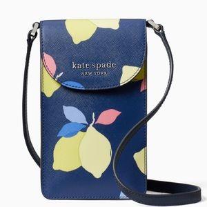 Kate Spade Cameron Lemon Zest Phone Crossbody 🍋